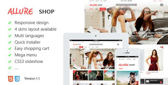 See More Allure Responsive Magento ThemeIn our offer link above you will see