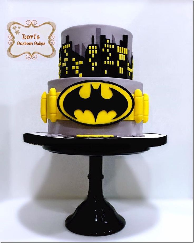 This Awesome Batman Cake Will Protect Gotham City made by Lori's Custom Cakes