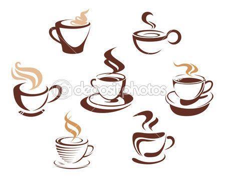 Šálky na kávu a čaj — Stocková ilustrace #10197220