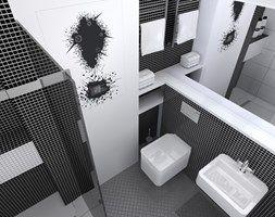 Męska łazienka w loftowym klimacie. - zdjęcie od e-wnetrza.pl