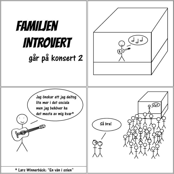 Familjen Introvert går på konsert 2. #familjenintrovert #introvert #serie #solitude #egentid #självsam #högsensitiv #hsp #humor #familj #kärlek #livet #fredag #fredagsmys #friday #comic #musik #social #konsert #helg #lyssna #citat #larswinnerbäck #winnerbäck