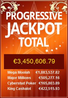 The total #jackpot at Royal Vegas (Microgaming) is now over €3,450,000.00 ♥ http://bit.ly/194oKxy ♥ (also mobile)