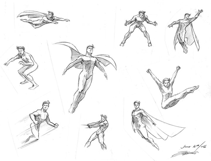 Super hero drawing poses | Having trouble drawing poses