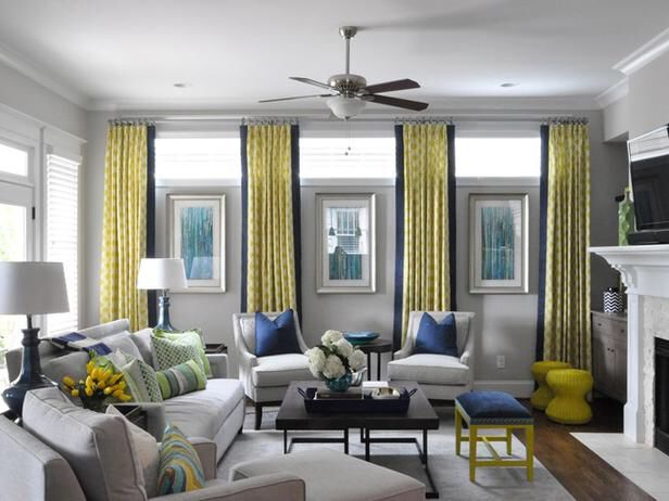 Formal window treatments for high basement windows. would this make the ceiling look higher?