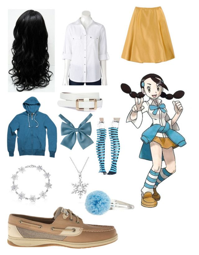 """""""Pokemon - Gym Leader Candice"""" by queen-taylor-brie ❤ liked on Polyvore featuring Sperry, Rochas, Croft & Barrow, Bling Jewelry and Dorothy Perkins"""