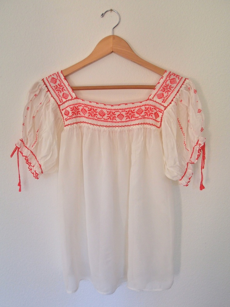 59 best Mexican Peasant Blouse/Embroidery images on Pinterest