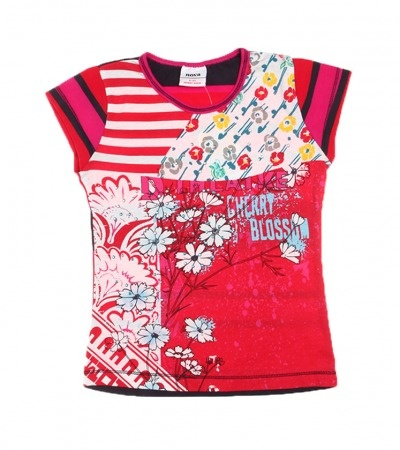 $16.95 Sale Ends 30th July 2012 Girls Clothing Sizes 6months - 9years - Red Japanese Style T-Shirt