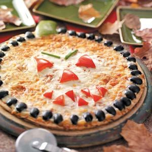 Halloween Pizza! Get the crust with a coupon http://thekrazycouponlady.com/2012/10/06/save-0-50-on-flatout-pizza-crust-2-48-at-walmart/