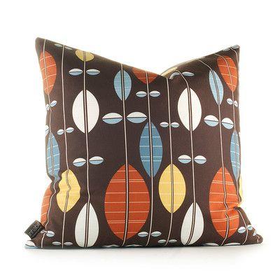 Mid Century Crewel Bracket Geo Pillow Cover - Nightshade : Aequorea Carousel Pillow in Chocolate and Cornflower A Tibbetts House ideas Pinterest ...