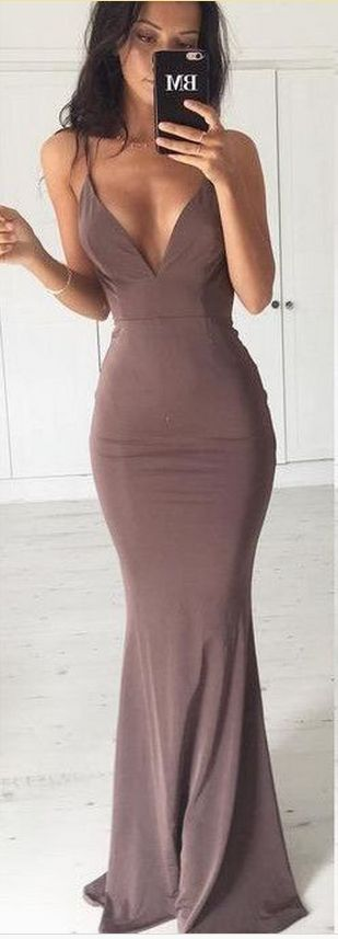 Gown mauve stretch fitted flattering