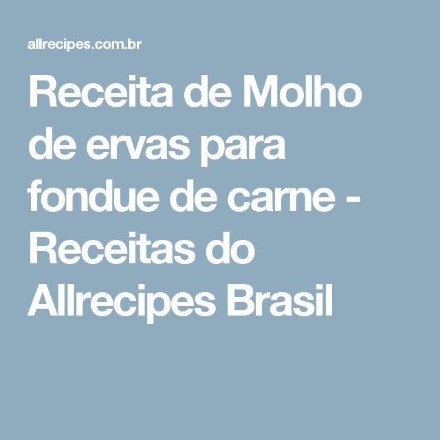 Receita de Molho de ervas para fondue de carne - Receitas do Allrecipes Brasil