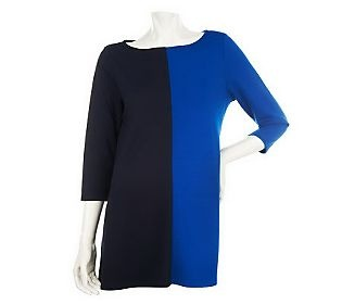 Pin to Win #SusanGraver Sweepstakes! {Ponte Knit Color Blocked Tunic with 3/4 Sleeves} Enter here: http://sweeps.pinfluencer.com/QVC