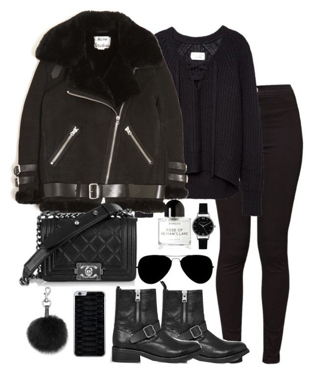 """Untitled #4440"" by theeuropeancloset on Polyvore featuring American Apparel, AllSaints, Rebecca Minkoff, Acne Studios, Jamie Clawson, Olivia Burton and Byredo"