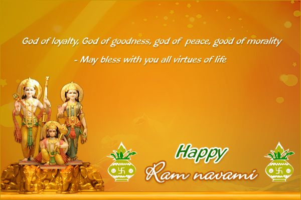 Warm greetings on the auspicious occasion of the birth of Lord Rama #HappyRamnavmi