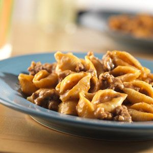 Cheeseburger Pasta -- This easy, flavorful, one-skillet supper takes pantry ingredients and combines them to make a delicious dish that's sure to become a family favorite!: Dinner, Cheeseburgers, Beef Recipe, Ground Beef, Food, Pasta Recipe, Cheeseburger Pasta