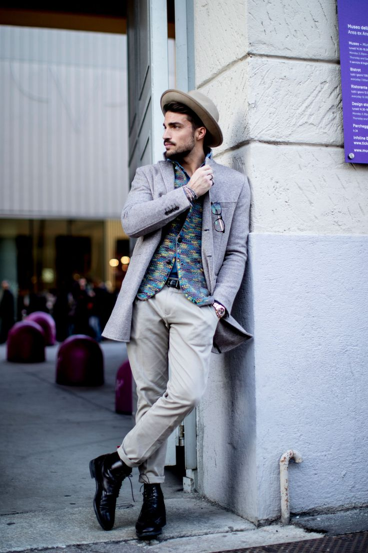 Men's outfits at Milan Fashion Week 2017
