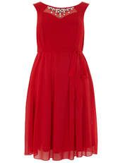 Scarlett and Jo Red Embellished Prom Dress