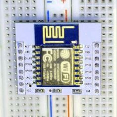 ESP8266 on a carrier board.