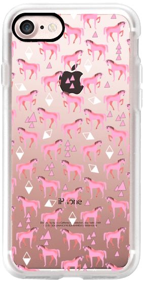 Casetify iPhone 7 Classic Grip Case - Horse Pattern - Love Pink by elenor #Casetify