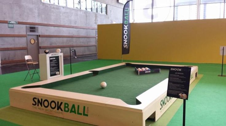 I soo want to make this for my man! Snookball, A Combination of Billiards and Soccer That Replaces Cues With Feet