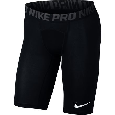 Whether you're running around the neighborhood or hitting the gym, the Nike Men's Pro Pro Long Shorts deliver top-tier comfort in performance base layering. Made from Dri-FIT, these shorts offer a sweat-wicking design that hugs your legs to help keep you dry, comfortable and moving freely during your workout.