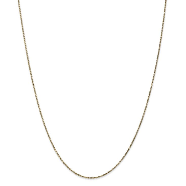 Versil 14k Gold 1.15mm Machine-made Rope Chain Necklace, Women's
