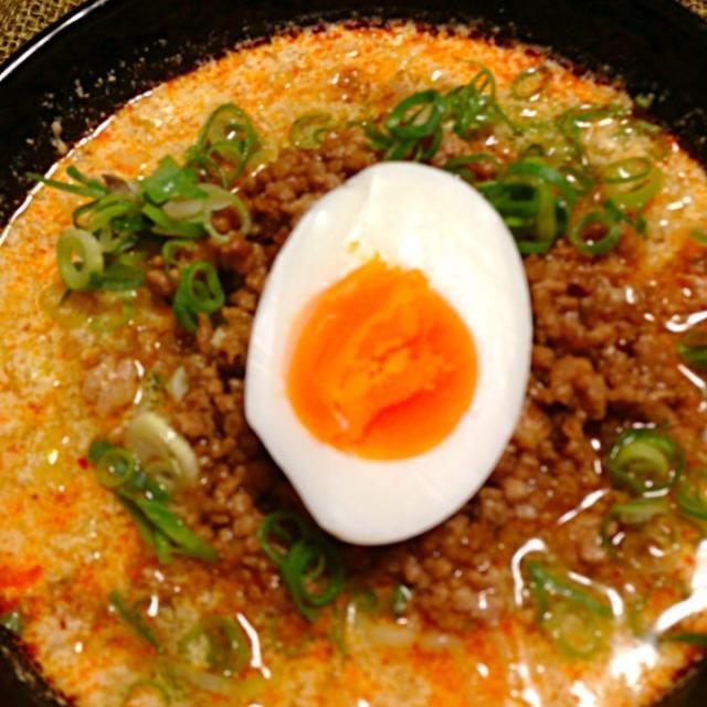めちゃ美味です(˃̴͈ॢ᷄◡ुමੈॆ⋆ॢ)∗✩⃛₎₎ - 17件のもぐもぐ - 担々麺*(❝̆ ॣᵌ ॣ❝̆) യ♡ by kaiya705