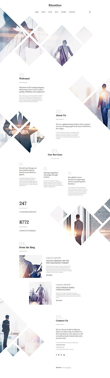 $75 - Rhombus #Business #Responsive #Joomla #Template Buy…