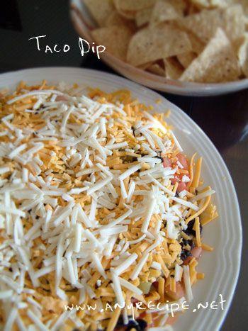 簡単タコ・ディップ(Taco Dip) →個別カップに入れると食べやすい