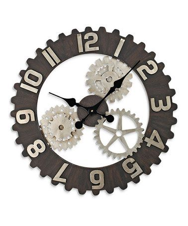 Love this Open Back Gear Clock on #zulily! #zulilyfinds FOR BABY'S ROBOT NURSERY?