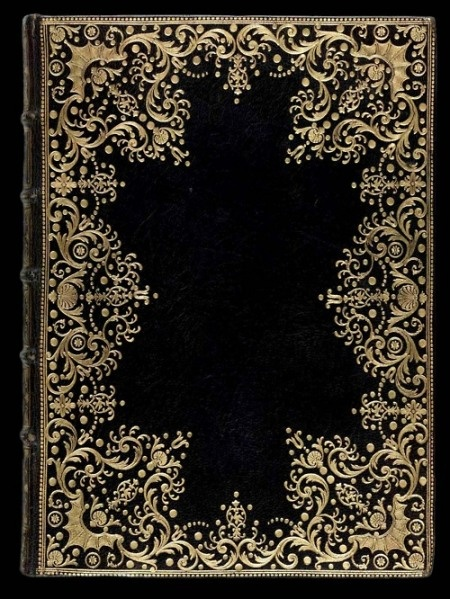 Old book cover.