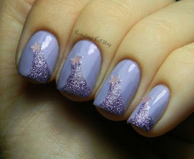 A beautiful and easy nail art design