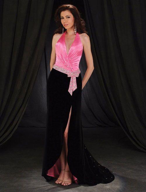 988acb550 Elegantes Vestidos Color Rosa con Negro