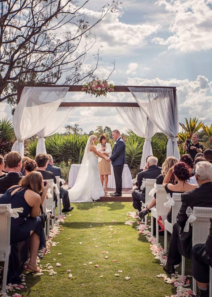 Mr & Mrs White in our stunning wedding pavilion at Parkwood International