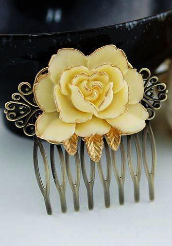 Bridal Hair Ideas 2019 unter Wedding Hair Braid Bun Tutorial ein Eheversprechen Generic von Bridal Hair Vine; Hochzeit Haarspange Polymer Clay