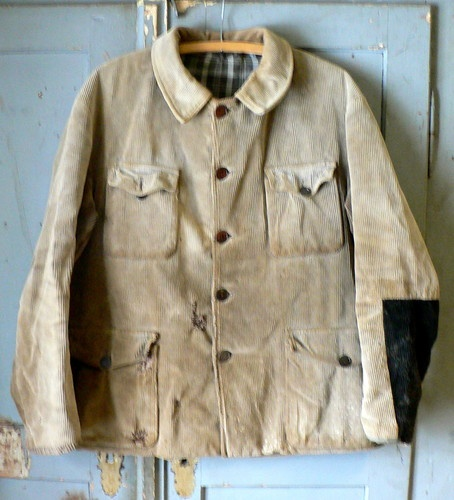Vintage 1930s French Emya Patched Corduroy Hunting Jacket