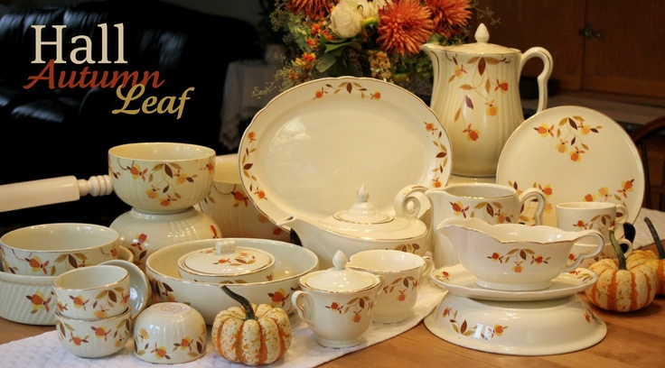 Started with a meat platter from my parent's house and now am collecting Hall Jewel Tea Autumn Leaf Dishes