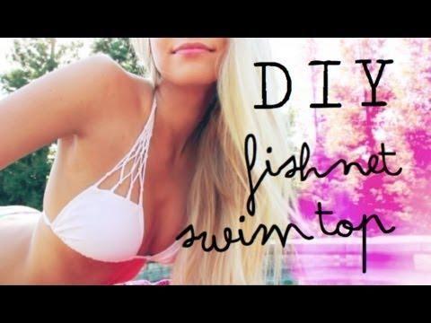 DIY Fishnet Bikini Top by Cait Barker DIY Swimwear DIY Clothes DIY Refashion
