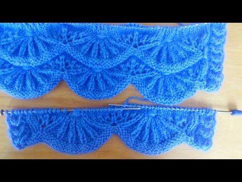 Узор спицами АЛСАЦИЙСКИЕ ГРЕБЕШКИ. Knitting Patterns - YouTube