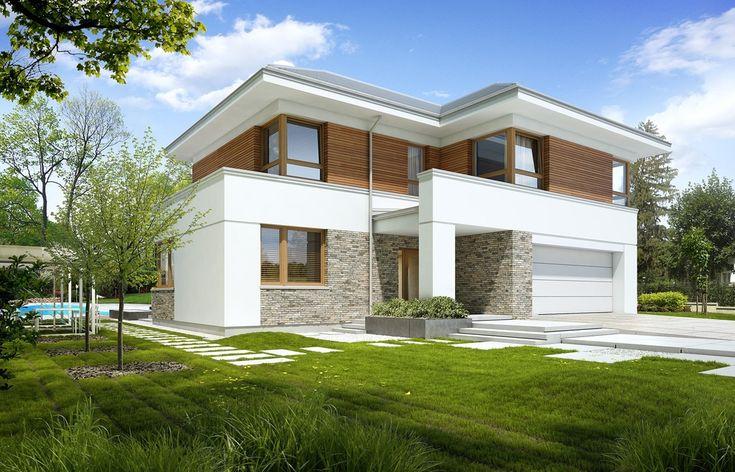 DOM.PL™ - Projekt domu DZW WYJĄTKOWY 2 CE - DOM DW1-75 - gotowy projekt domu