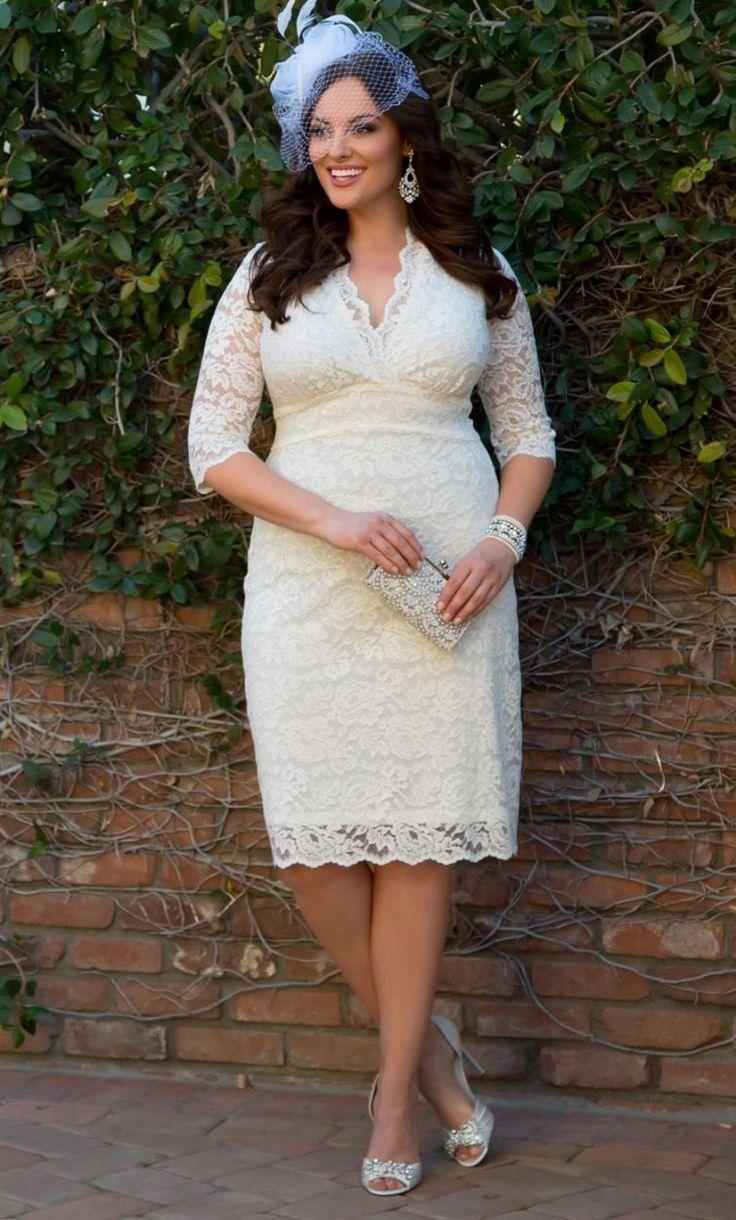 best tea length plus size wedding dress images on pinterest