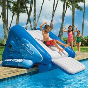 Inflatable Pool Ideas 5 games for inflatable pools Kool Splash Inflatable Waterslide Pool Toys In The Swim Httpwww