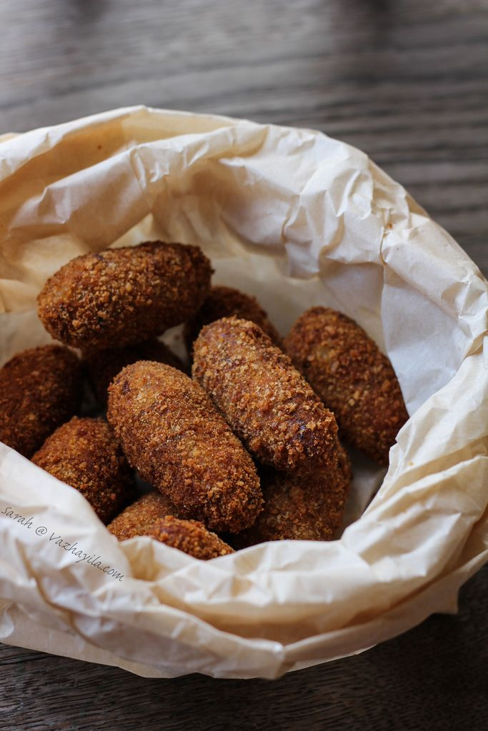 Vazhayila.com: Canned Tuna Cutlets - Revisiting Kerala style Fish Cutlet