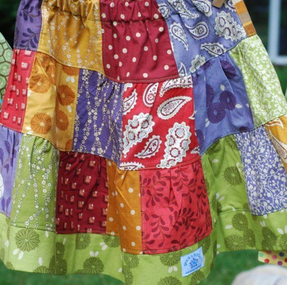 how to make a patchwork skirt