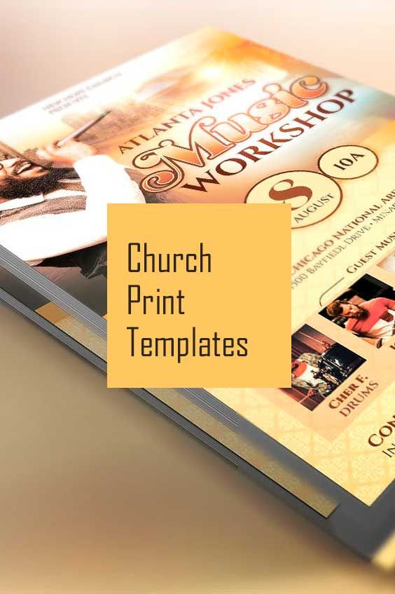 A collection of  great church print templates for sermon, church events, charity organization events and more.