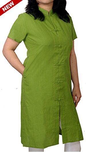 Women Corporate Kurtas, Parrot Green Loop Knot Corporate Kurta