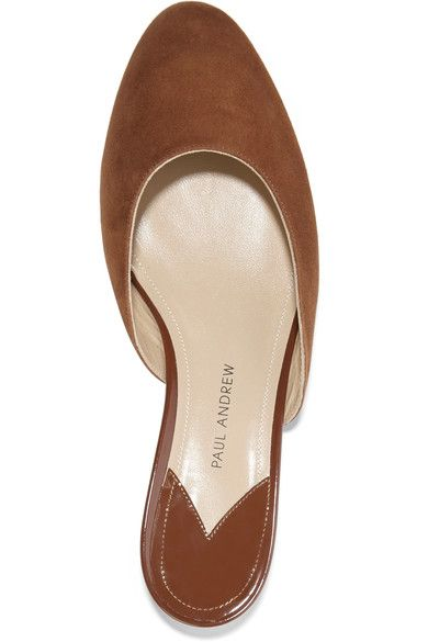Paul Andrew - Alba Suede Slippers - Brown - IT41.5