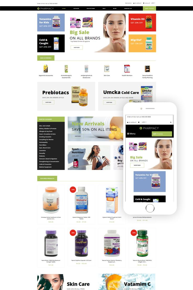 Pharmacy – Drug Store eCommerce Clean Shopify Theme #79598