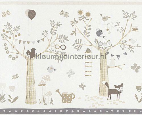 Bosfeestje rand grijsbeige behang 247305 uit de collectie Bambino XVII van Rasch online bestellen bij kleurmijninterieur