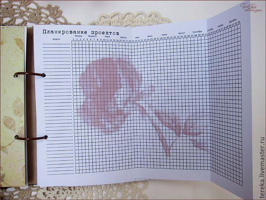Иллюстрации ручной работы. Страницы для блокнота рукодельницы
